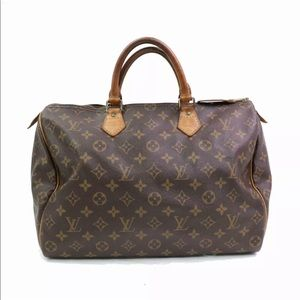 Authentic Louis Vuitton Monogram Speedy 35 Bag